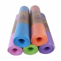 Yoga and Exercise Mat- 6 Feet x 2 Feet - Grey Multicolor 6 mm Yoga Mat (Washable) ইয়োগা এবং এক্সারসাইজ মাদুর