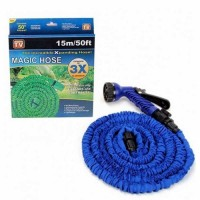 Garden And House Magic Hose Expandable Stretch Hose Pipe 15m/50ft with Spray Gun- Blue
